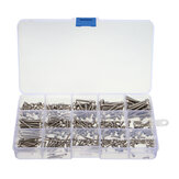 Suleve™ MXSS2 M2/M2.5/M3 Stainless Hex Socket Cap Head Screws Allen bolt Nut Assortment Kit 300pcs