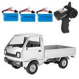 WPL D12 1/10 2.4G 2WD Militär-LKW-Raupen-Geländewagen RC-Fahrzeugmodelle Toy Mehrere Batterie