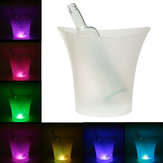 7 Colors LED Light Ice Bucket  Drinks Ice Cooler Bar Party 5L