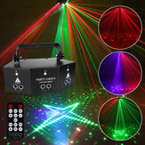 Projecteur DMX RGB 9-EYE LED Lumière Laser Télécommande Strobe DJ Party Stage Lighting US Plug AC110V / 220V