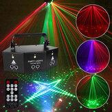 9-EYE RGB DMX Projector LED Laser Light Remote Control Strobe DJ Party Stage Lighting US Plug AC110V/220V