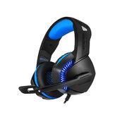 PHOINIKA H-3 Oyun Kulaklığı USB Dahili Ses Kartı Göz Kamaştırıcı Optik Kulaklık 50mm Sürücü Ünitesi 120 ° Dönebilen Mikrofon 4D Güçlü Bas USB + 3.5mm Ses Fişi Oyun Kulaklığı