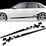 2x Car Vehicle Body Stripe Side Stickers Racing Race Spódnica Vinyl Kalkomania DIY Decor