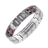 Punk Men Stainless Steel 4 w 1 Strong Magnetic Bracelet