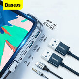 Baseus Upgrade Version USB-C Hub Adapter Dockingstation mit 2 * USB 3.0 / 60W Type-C PD / 4K HD Display / 3,5 mm Audio-Buchse / TF-Speicherkartenleser