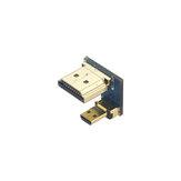 Catda C1924 HDMIアダプタHDMIオス-マイクロHDMIオスアダプタコンバータRaspberry Pi 4B用高速コネクタ