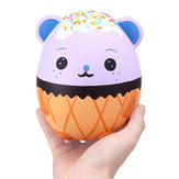 New Squishy Purple Panda Egg 15cm Kawaii Animal Slow Rising Rebound Jumbo Cute Legetøj Gave Decor Collection