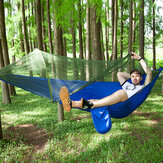 Pára-quedas anti-mosquito Nylon Hammock Outdoor Travel Camping Turn Over Tents
