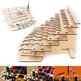 57 Pots Wooden Acrylic Color Paints Bottle Storage Rack Holder Organizer