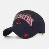 כובעי שמש כובעי בייסבול רקמת עוגן מכתב