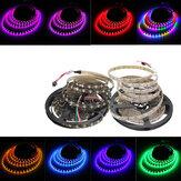 5M 90W 300SMD WS2812B LED RGB Colorful luz de tira impermeável IP65 branco / preto PCB DC5V
