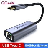 QGeeM USB Type-C a 1000Mbps RJ45 Conversor de adaptador de porta de rede Ethernet para smartphones Tablets Laptops MacBook Air 2020 para iPad Pro 2020 para Samsung Galaxy Note 20