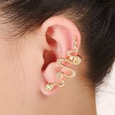 1Pc Exaggerate Snake Left Right Oreja Cuff Zinc Alloy Pendientes