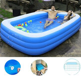 1.5/2.1/3.05M 3 Layers Portable Inflatable Swimming Pool  Adults Kids Bath Bathtub Foldable Outdoor Indoor Bathroom SPA
