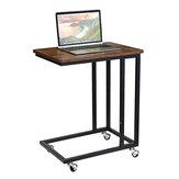 DouxLife® DL-ST02 Mesa móvil para portátil Mesa deslizante en forma de C Sofá Mesa de banco lateral con ruedas para portátiles Suministros de muebles para el hogar