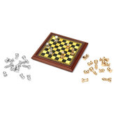 1:12 Scale Dollhouse Miniature Metal Chess Set Board Toys Home Room Ornaments