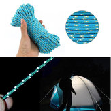 IPRee® Dacron 20m Camping Tent Rope Lysreflekterende High-Strength Outdoor 16 Strands Paracord