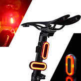 XANES 2pcs STL03 100LM IPX8 Memory Mode Bicycle Warning Taillight 6 Modes 1200mAH USB Pengisian 360° Rotation