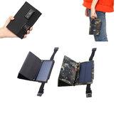 Camuflar / preto 7W 5.5V que dobra o painel solar do silicone Monocrystalline com dois Carabiner + porta usb