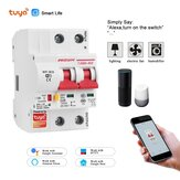 Tuya Smart Life 10A-125A 2P WiFi Smart Circuit Breaker Overload Short-circuit Protection Works with Alexa Google Home
