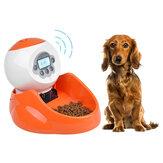untuk Anjing Kucing & Hewan Kecil [Panel Layar LCD] 35 Ons, Pet Cerdas Otomatis Pengumpan Makanan Hewan