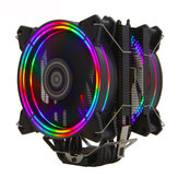 ALSEYE H120D CPU Koeler RGB Fan 120 MM PWM 4 Pin 6 Heat Pipes Koeler voor LGA 775 115x 1366 2011 AM2 + AM3 + AM4