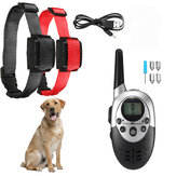 1000M Distance Rechargeable Electric Dog Training Collar Waterproof Bark Stopper With Remote Controller Electric For 6~60KG Dog