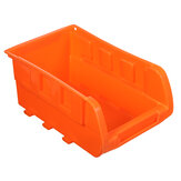 8Pcs Wall Mount Plastic Bins Storage Box Garage Tools Small Parts Organizer Rack With Wall Mounted Board