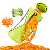Vegetable Spiral Slicer Peeler Redesigned Handle With Stainless Steel 4 Blade Veggie Julienne Slicer Cutter Fruit Slicer Julienne Peeler