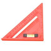 Effetool régua plástica do quadrado de Rafter de 7 polegadas régua de um triângulo de 45 graus para o Woodworking