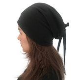 Kadın Düz Renk Türban Şapka Gündelik Yay Skullcap Beanie Caps