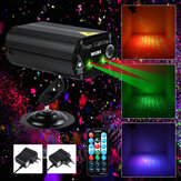 100W RGB Party Lights DJ Disco Strobe Lamp LED Laser Controle de som do projetor