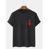 Мужские футболки с короткими рукавами из 100% хлопка с принтом в виде покера Ace Of Hearts