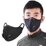 WHEEL UP في الهواء الطلق مكافحة حبوب اللقاح فلتر الكربون المنشط قناع الوجه الواقي مع صمام لركوب الدراجات النارية