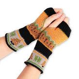 Les femmes noël hiver chaud tricot gants sans doigts pour le cadeau de Noël