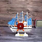 Mediterrane zeilen muziekdoos cadeaus voor het nieuwe jaar Creatieve houten zeilboot Craft Gift Souvenirs