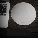 Mouse pad Inphic PD22 Liga de alumínio impermeável liga metálica redonda Mouse pad de mesa rígido para jogos de escritório