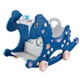 Cavalinho de balanço multifuncional para bebês 4 em 1 Cavaleiro de brinquedo com assento de cavalo de balanço para crianças de 1 a 6 anos de idade Brinquedos para bebês