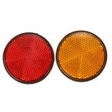 2 x Réflecteurs ronds 2inch rouge orangé universelles pour la moto dirt bike VTT