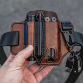 Ægte læder EDC Belt Loop Talje Multitool Sheath Belt Bag Waist Bag