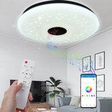 40CM 36W AS102 LED RGB Music Ceiling Lamp APP + Controle Remoto Trabalhe com Google Home Alexa 220V / 85-265V