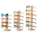 Natuurlijk hout Houten zonnebril Brillen Display Rack