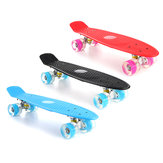 22 '' LED Light Up Fish Skate 4 PU Wheel Single Warping Board Teenagers Kids Skateboard