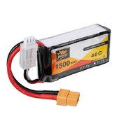 5 stuks ZOP Power 7.4V 1500mAh 40C 2S Lipo-batterij XT60-stekker