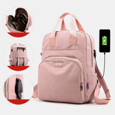 Women Fashion Backpack Large Capacity Bag With USB Charging Port