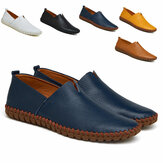 UK Men Slip On Casual barco Mocasines de conducción Piel Genuina Soft Mocasines Casual Walking Super Light Shoes