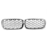 1Pair Chrome Front Kidney Grill Grille For BMW X5 F15 X6 F16 2014-2017 Left Right