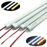 50CM SMD 5730 36 LED Rigid Strip Tube Bar Lys Lampe Med U Aluminium Shell + PC Cover DC12V