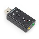 7.1 External USB Sound Card USB to Jack 3.5mm Headphones Audio Adapter Micphone Sound Card for PC Computer