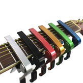 6 Colors Guitar Tuner Aluminum Alloy Tune Clamp Key Trigger Capo for Acoustic Electric Guitar